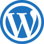wordpress blue icon